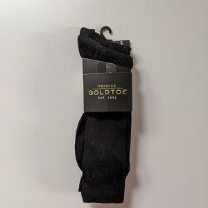 Gold Toe Premier black crew socks